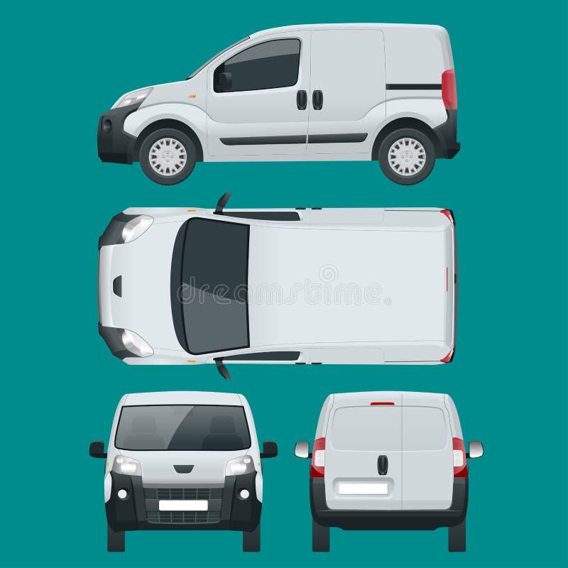 Мал Van Автомобиль Изолированный автомобиль, шаблон для автомобиля клеймя и рекламируя бесплатная иллюстрация