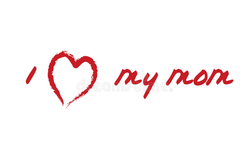 мама влюбленности карточки i моя иллюстрация штока