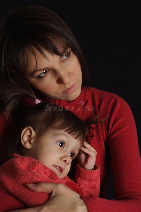 Мама и ее gir стоковые изображения