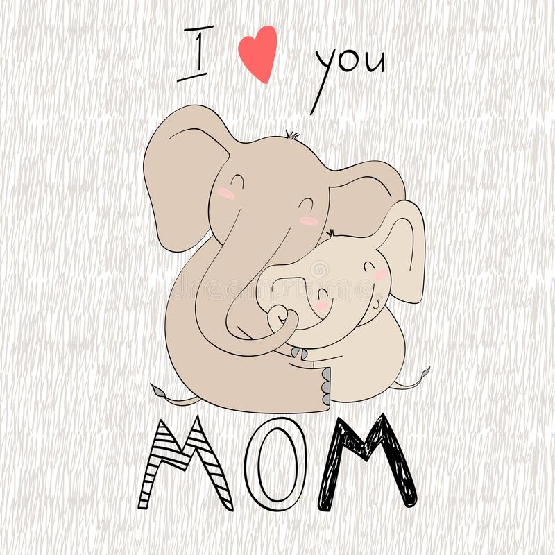 Мама и младенец иллюстрация штока