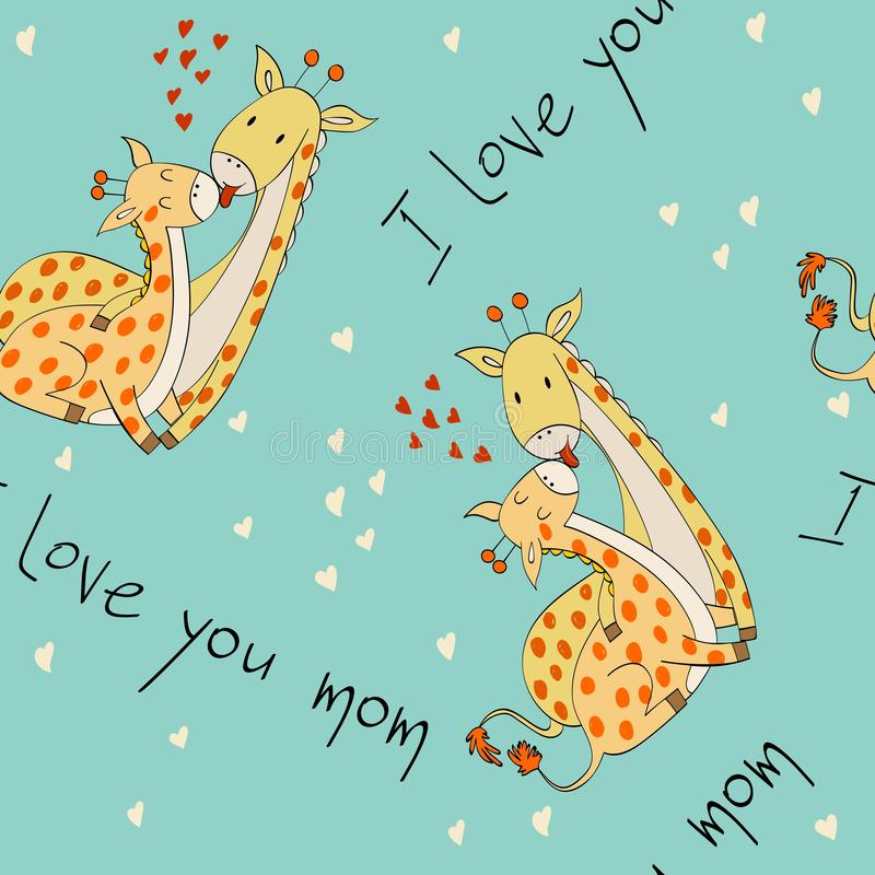 Мама и младенец иллюстрация вектора