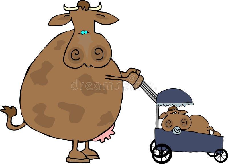 мама коровы иллюстрация вектора