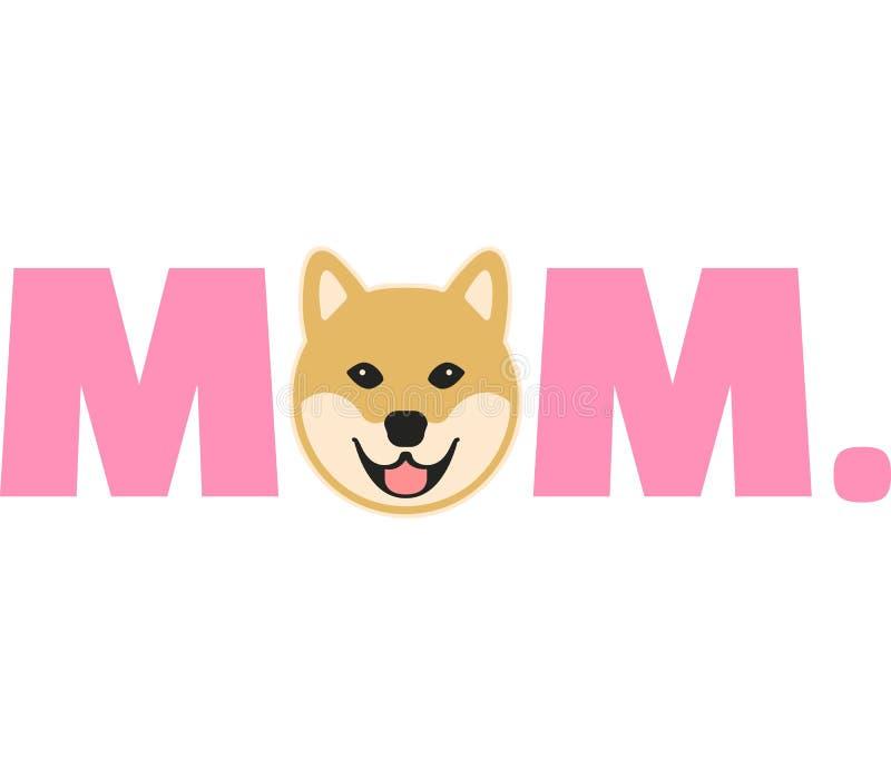 Мама Shiba в пинке бесплатная иллюстрация