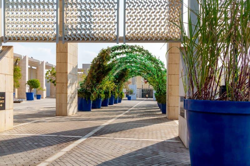 МАНАМА, Бахрейн - 19-ое декабря 2018: Вход к Национальному музею Бахрейна стоковые изображения