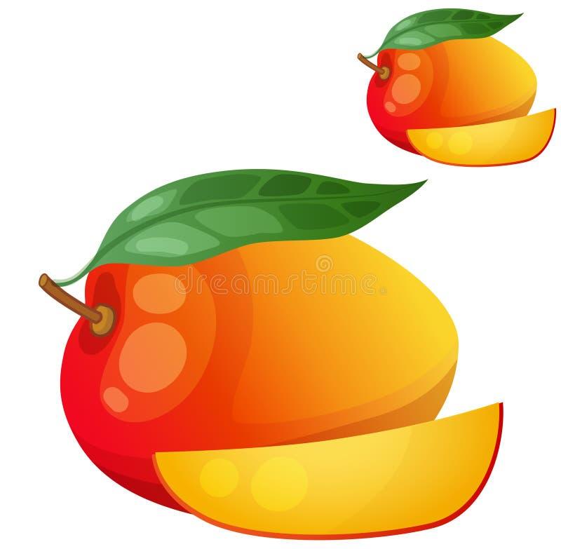 манго Значок вектора шаржа изолированный на белизне иллюстрация штока