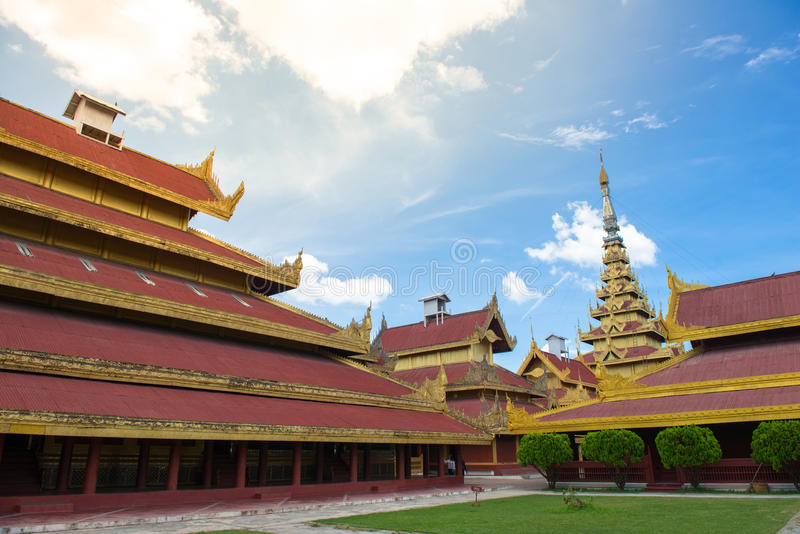 Мандалай Palace стоковые изображения