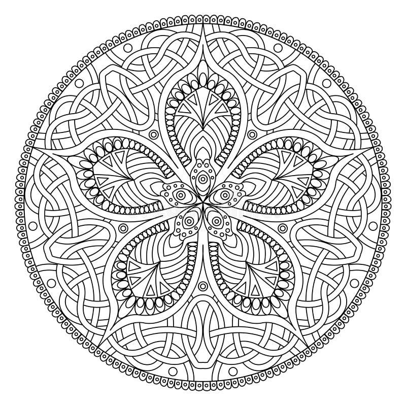 мандала Восточная декоративная картина цветка иллюстрация штока