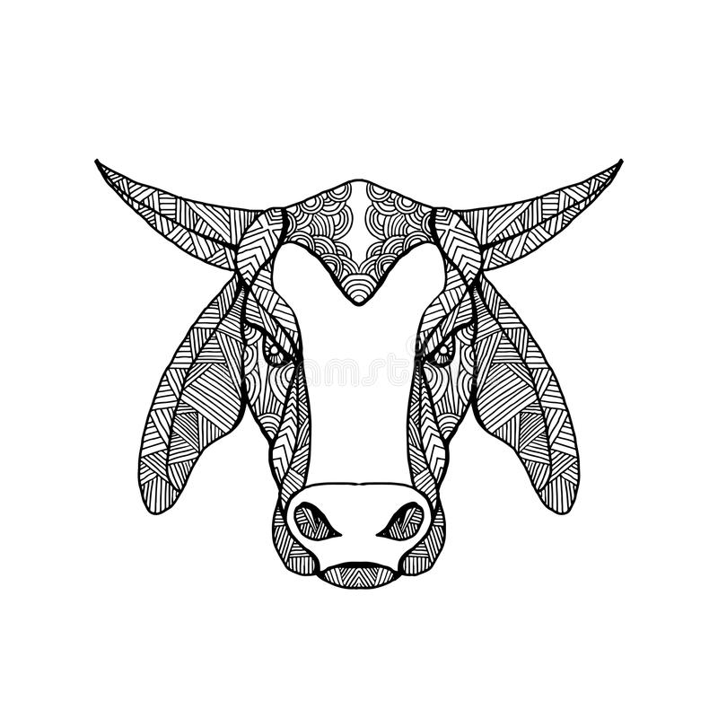 Мандала головы Brahma Bull бесплатная иллюстрация