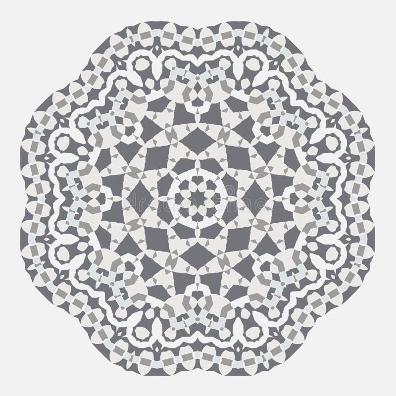 мандала Орнамент Greco этничности круглый римский Этнический тип Элементы для карточек приглашения, брошюр, крышек Восточный цирк иллюстрация штока