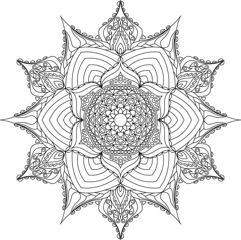 Мандала плана для книжка-раскраски бесплатная иллюстрация