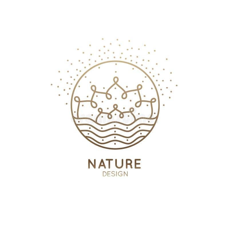 Мандала природы логотипа бесплатная иллюстрация