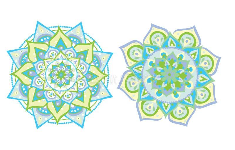 Мандала проиллюстрированная вектором бесплатная иллюстрация