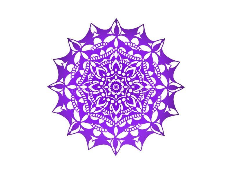мандала пурпурово вектор орнамента круглый стоковые изображения
