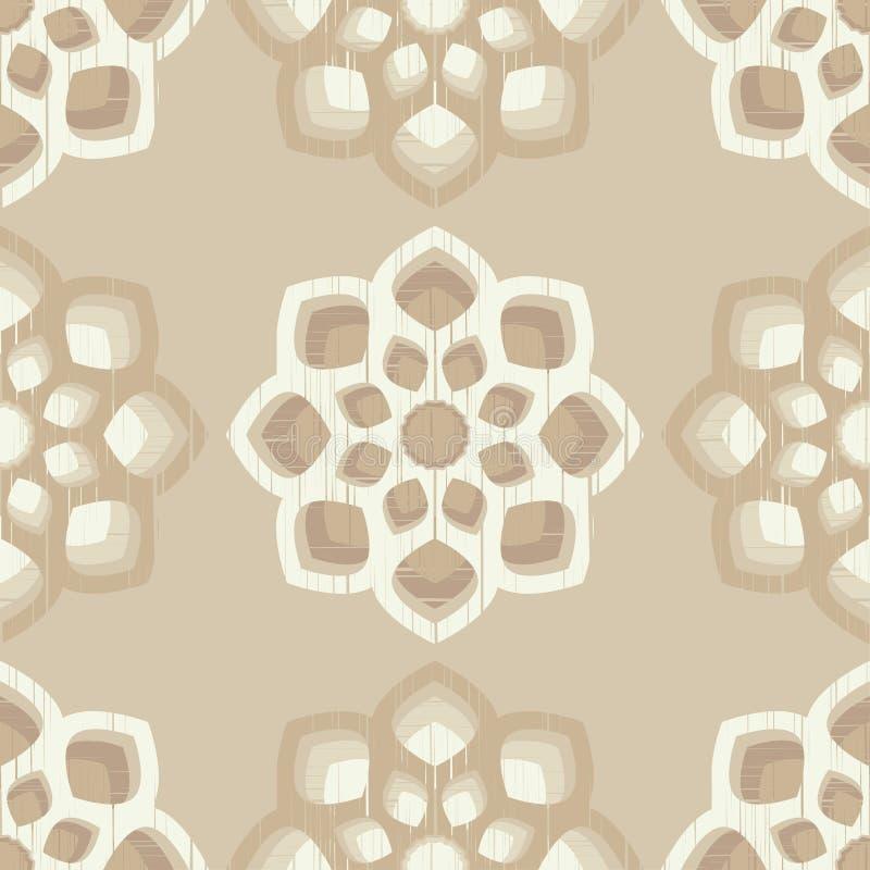 мандала флористический орнамент изображение священнейшее декоративный сбор винограда элементов Восточная картина, иллюстрация век иллюстрация вектора