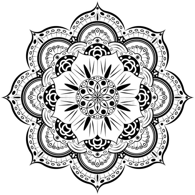 Мандала цветка декоративный сбор винограда элементов Восточная картина, иллюстрация Ислам, арабский, индийский, морокканский, Исп бесплатная иллюстрация