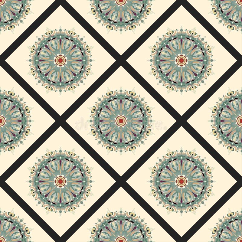 Мандала: этнический узор из племенного винтажа иллюстрация вектора