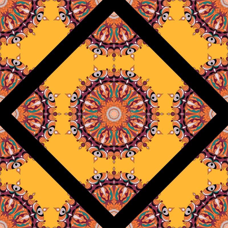 Мандала: этнический узор из племенного винтажа бесплатная иллюстрация