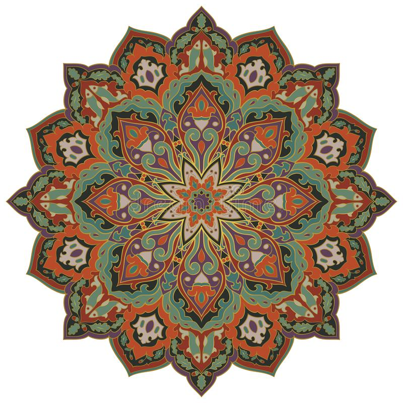 Мандала oriental вектора иллюстрация штока