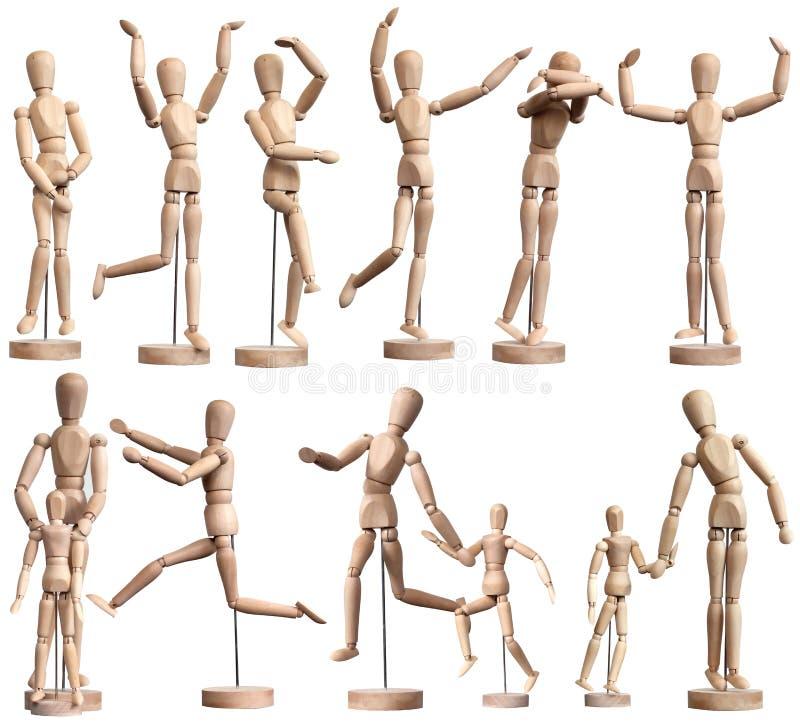 манекены деревянные стоковая фотография