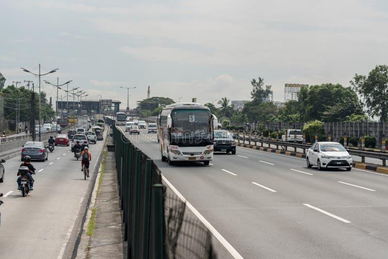 МАНИЛА, ФИЛИППИНЫ - 2-ОЕ ФЕВРАЛЯ 2018: Движение в Маниле, Филиппинах стоковое изображение rf