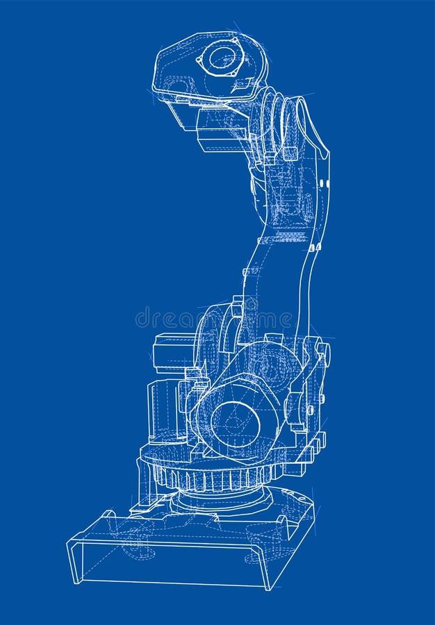 Манипулятор промышленного робота голубой вектор неба радуги изображения облака бесплатная иллюстрация