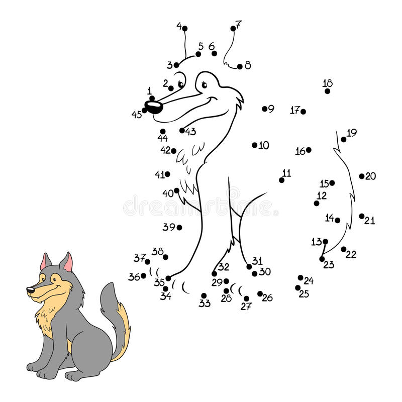 Манипуляция цифрами (волк) иллюстрация штока