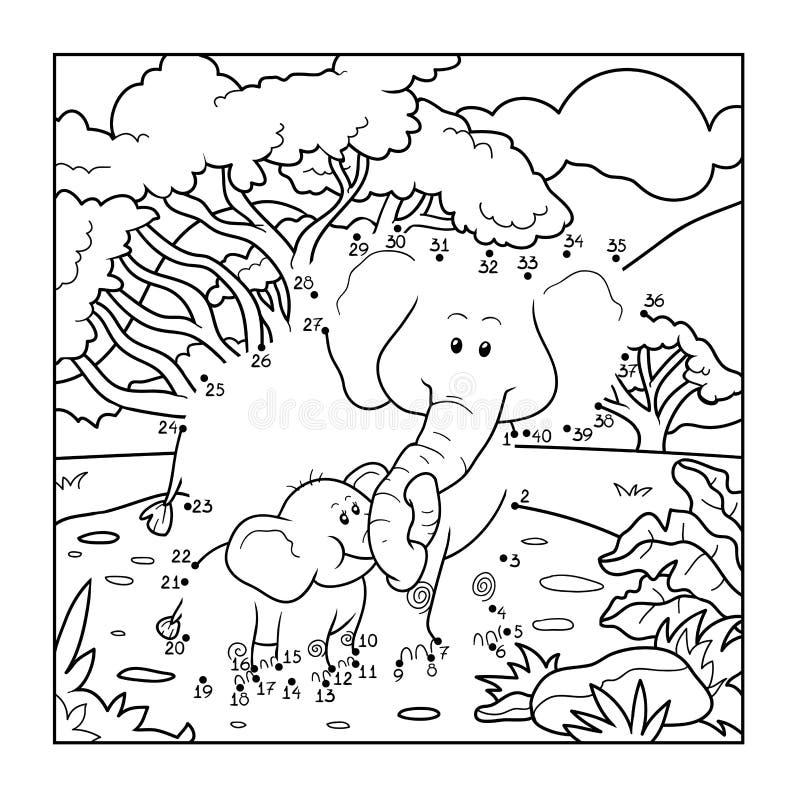 Манипуляция цифрами (2 слона) иллюстрация штока