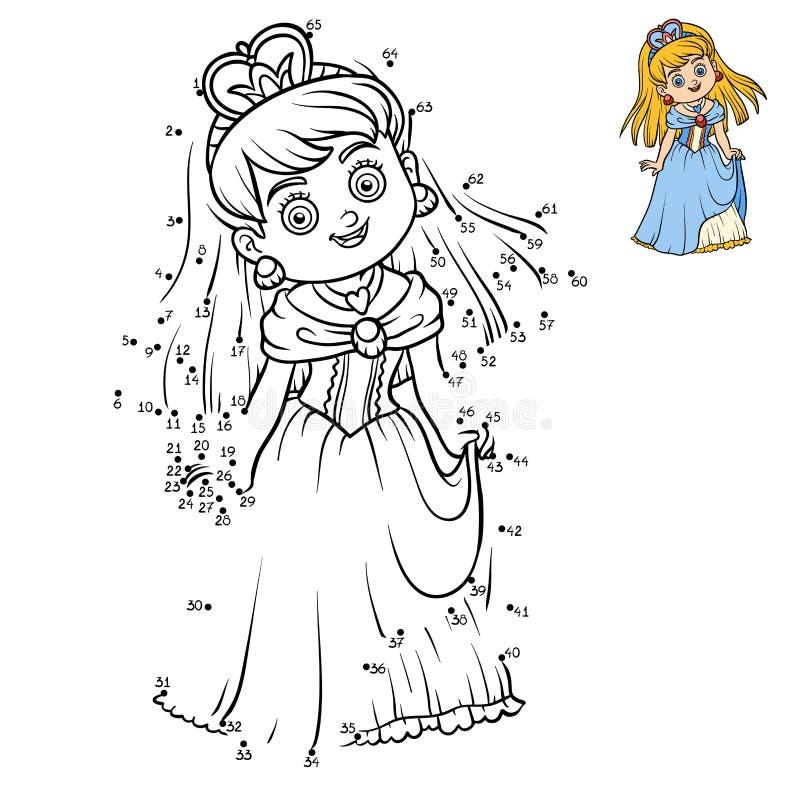 Манипуляция цифрами, точка образования для того чтобы поставить точки игра, принцесса бесплатная иллюстрация