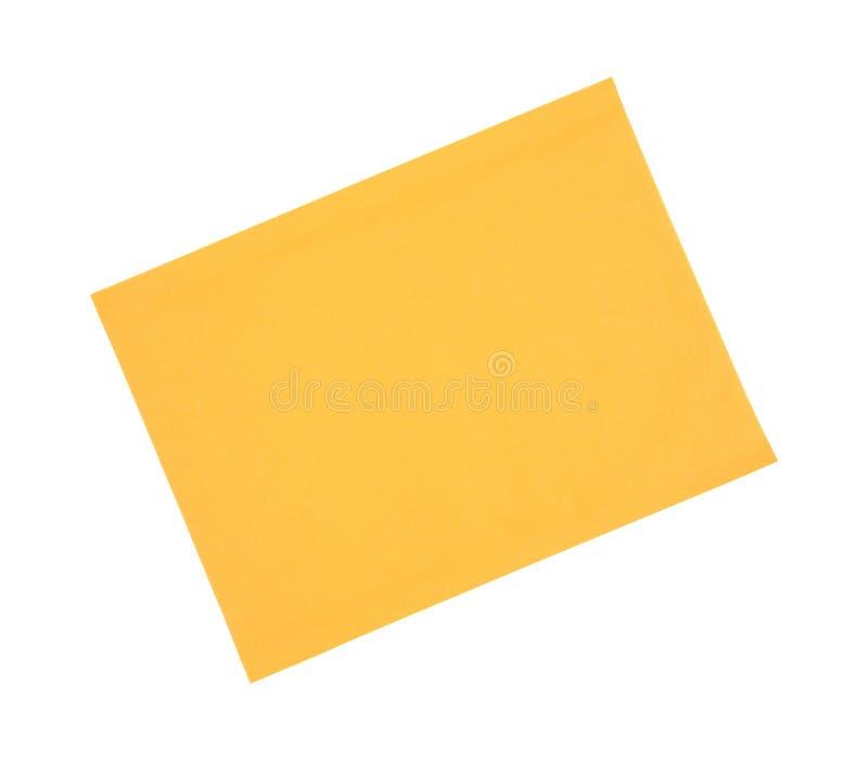 Манила проложила конверт стоковое изображение