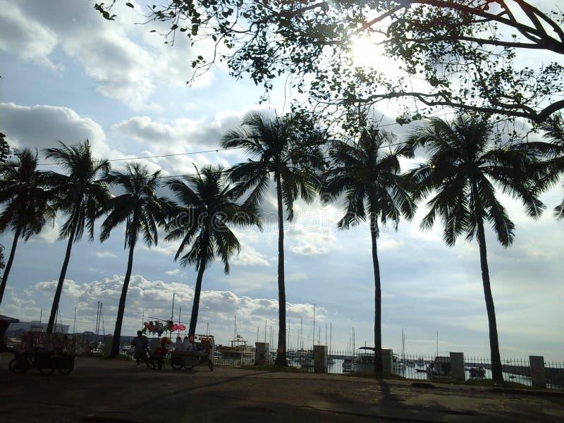 Манила, Baywalk стоковое изображение rf