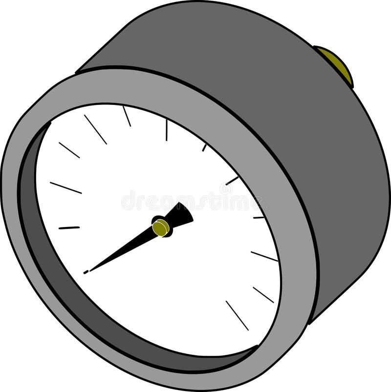 Манометр - измерение давления иллюстрация штока