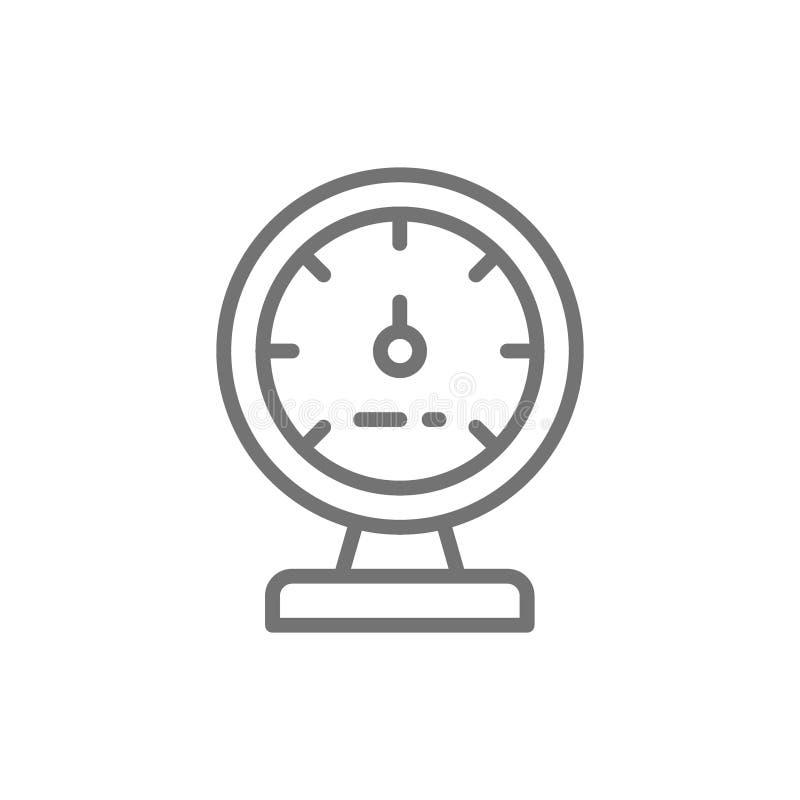 Манометр, прибор для измерять пар и линию давления значок воды иллюстрация штока