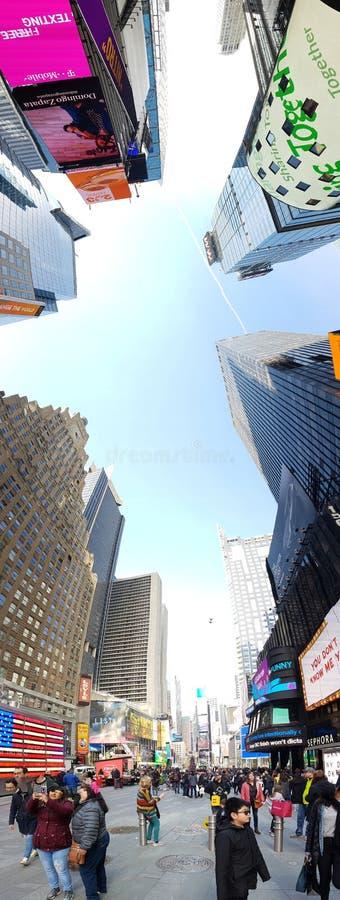 Манхаттан, небоскребы Нью-Йорка стоковое фото