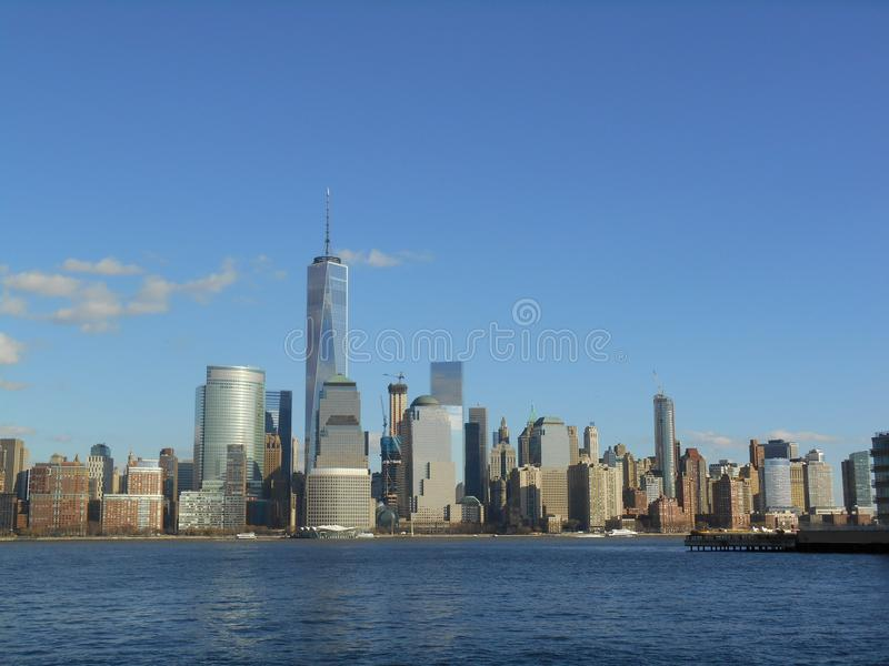 Манхаттан, Нью-Йорк, Вашингтон США, время рождества стоковое изображение rf