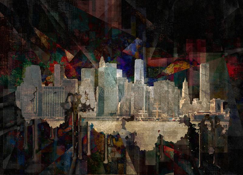 Манхэттен иллюстрация штока