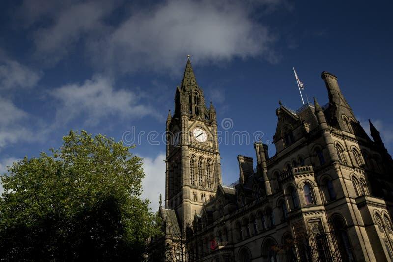Манчестер, больший Манчестер, Великобритания, октябрь 2013, ратуша Манчестера стоковая фотография rf