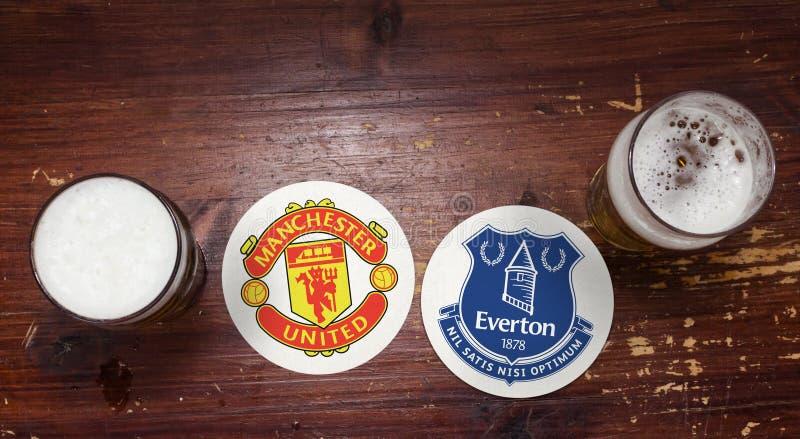 Манчестер Юнайтед против Everton стоковые фото