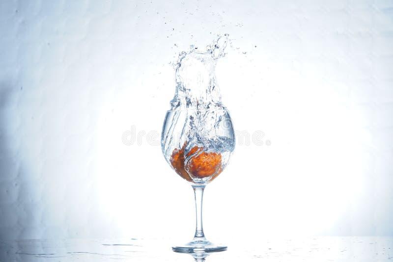 Мандарин выплеска стоковая фотография