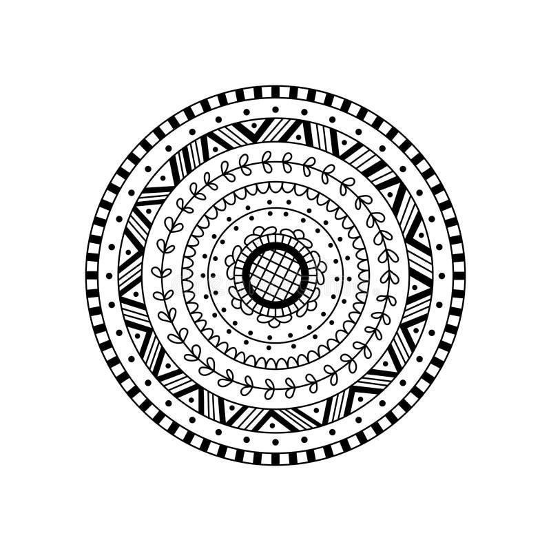 Мандала вектора круглая Этнический декоративный орнамент бесплатная иллюстрация