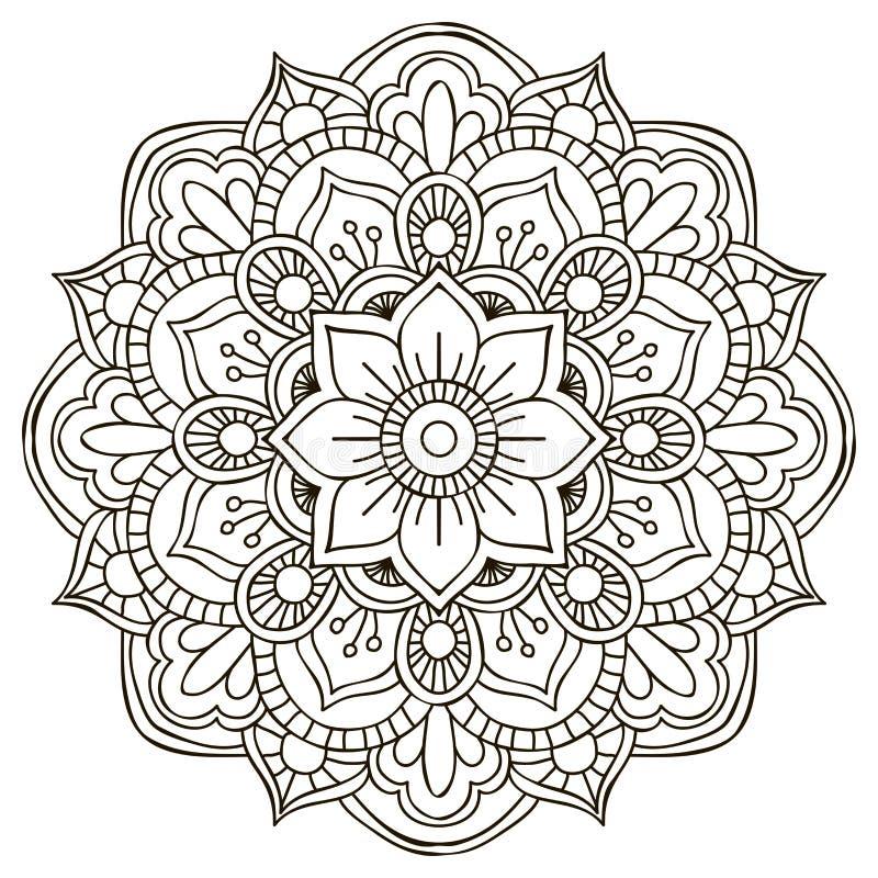 мандала вектор орнамента круглый иллюстрация вектора