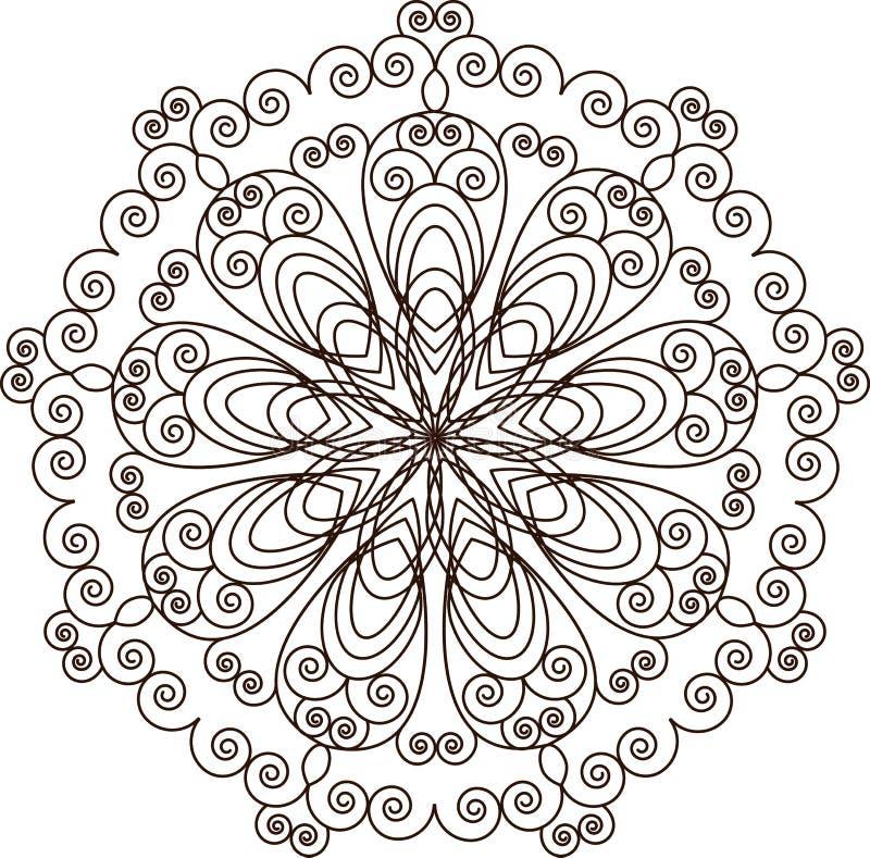 мандала декоративный сбор винограда элементов иллюстрация штока