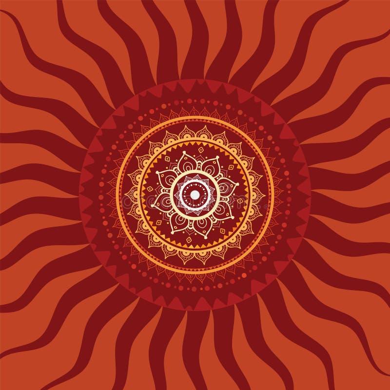 Мандала. Картина Солнця. бесплатная иллюстрация