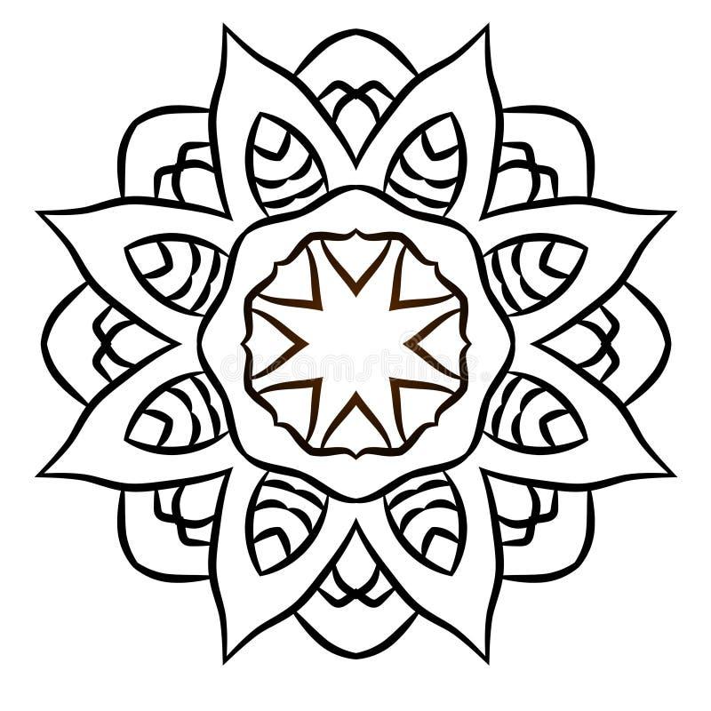 мандала Круглая картина орнамента декоративный сбор винограда элементов бесплатная иллюстрация