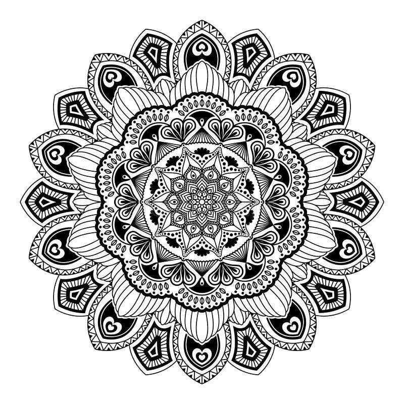 мандала Круглая картина орнамента Красивый орнамент можно использовать бесплатная иллюстрация