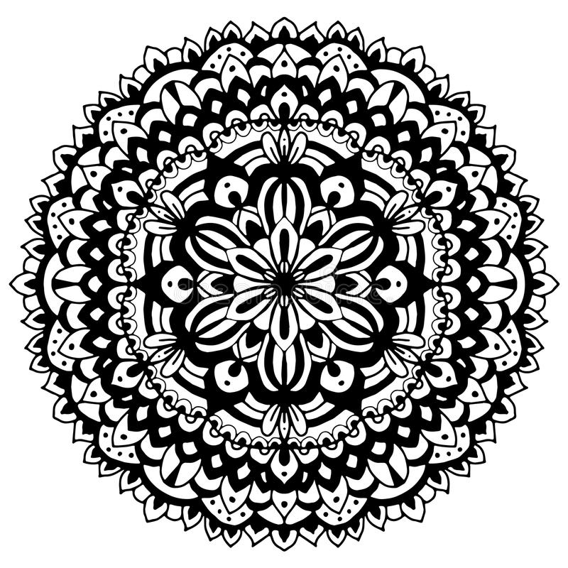 мандала орнамент симметричный иллюстрация вектора