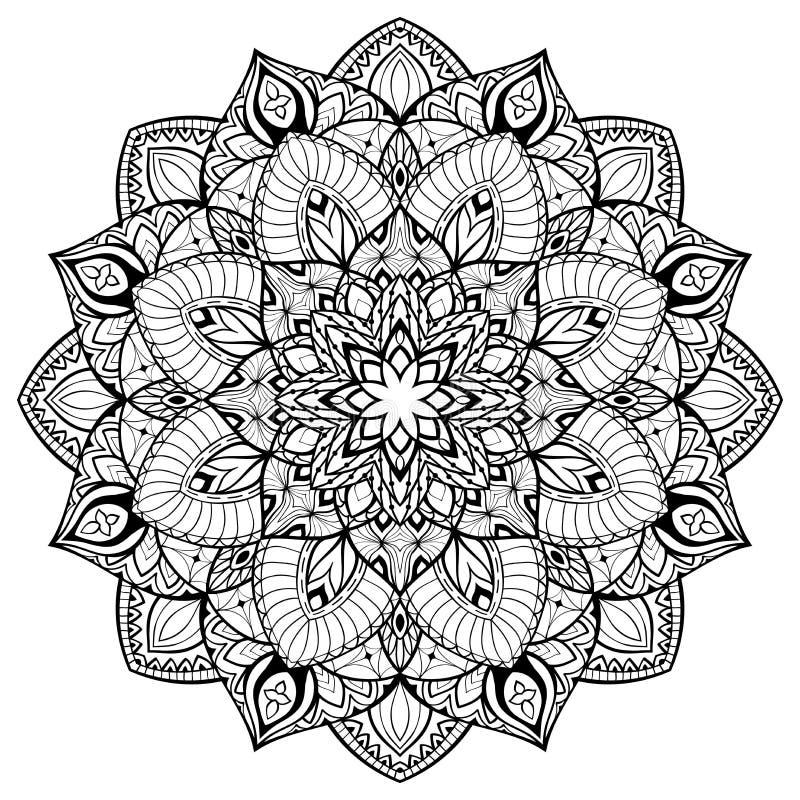 Мандала с тонкими линиями иллюстрация вектора