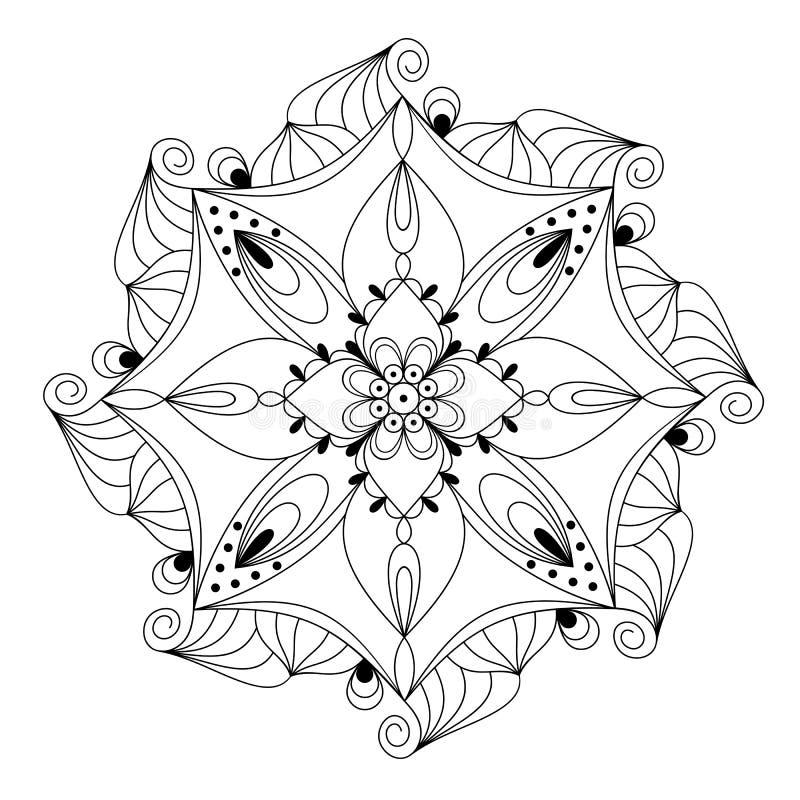 мандала также вектор иллюстрации притяжки corel иллюстрация вектора
