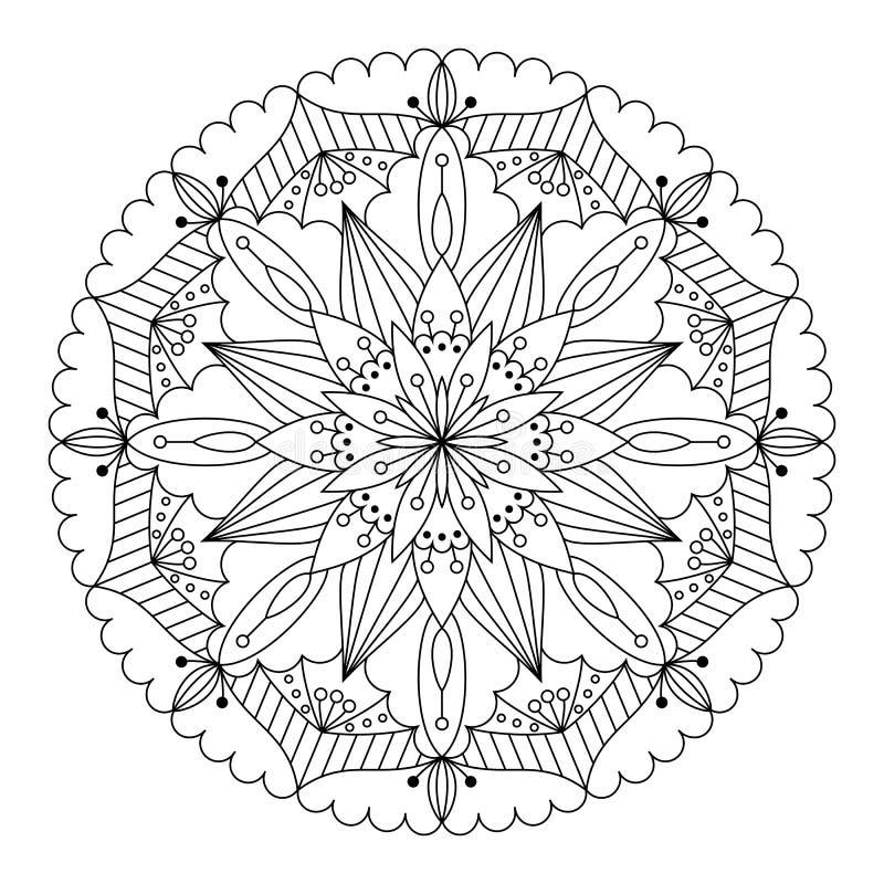 мандала также вектор иллюстрации притяжки corel бесплатная иллюстрация