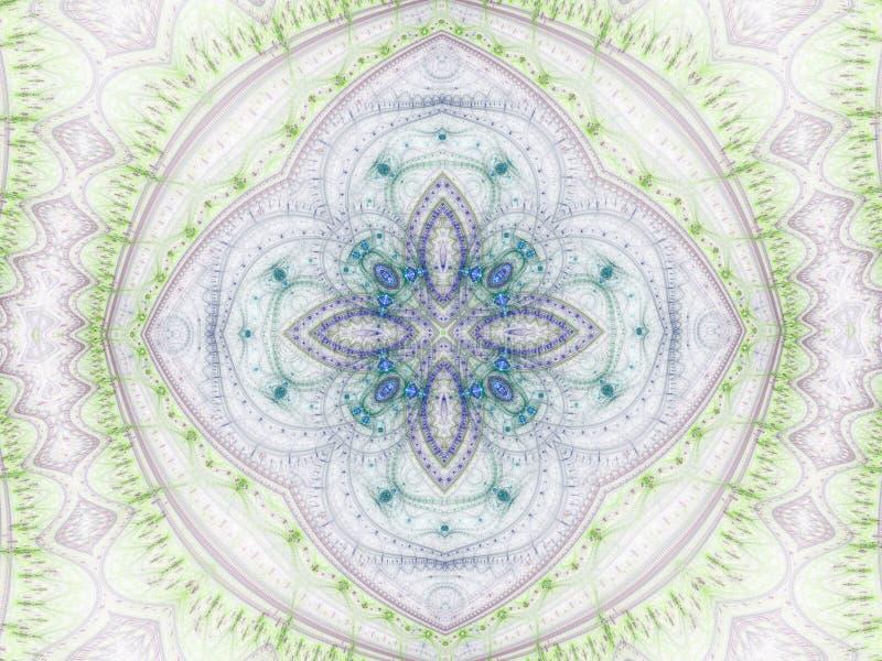 мандала фрактали Clockwork-стиля иллюстрация вектора
