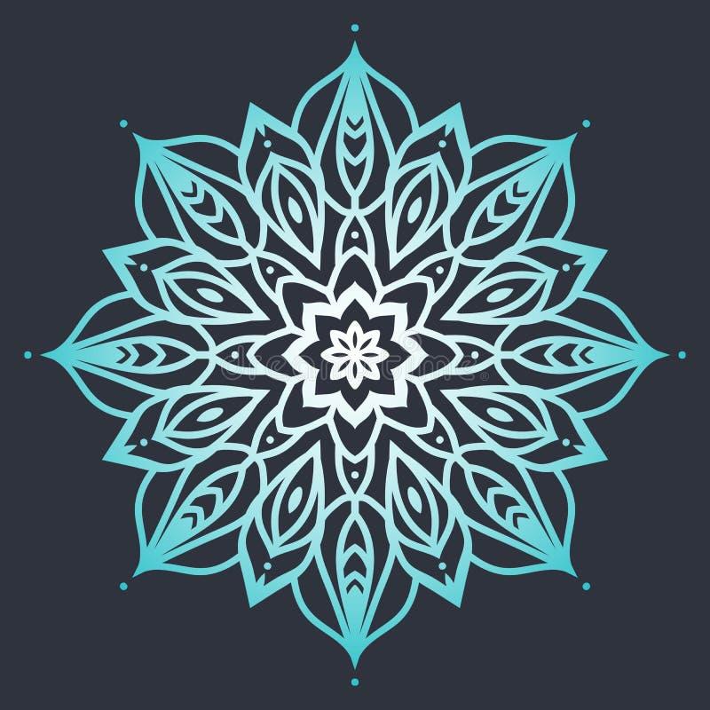 Мандала цветка этническая картина Круглая мандала линий Вектор i иллюстрация вектора